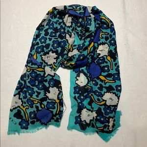 COACH - Yankee floral oblong  teal scarf